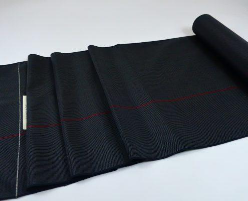 ストライプ 紬 ブラック